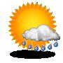 Intervalos nubosos con lluvia